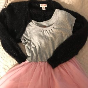 Size 3T dress and 3T shrug sweater
